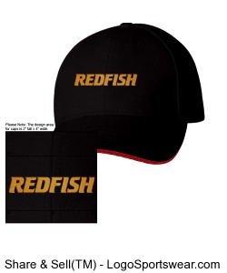 Redfish Outdoors Structured Twill Cap Sandwich Cap Design Zoom